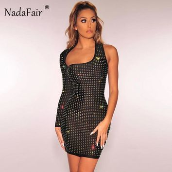 1cbf373216 Nadafair one shoulder women sexy club party dress spring long sl