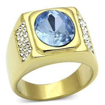 Gold Mens Stoned Ring