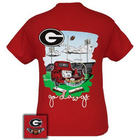 Georgia Bulldogs Athens Tailgates & Touchdowns Party T-Shirt