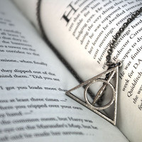 Deathly Hallows Necklace Small by FanaticAlley on Etsy