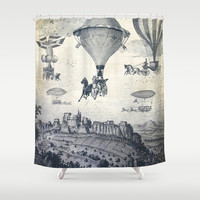 The Carrilloons over the City Shower Curtain by Paula Belle Flores