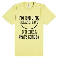I'm Smiling Because Fun T Shirt-Unisex Lemon T-Shirt