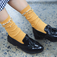 Buy Lucky Nine Beaded Socks | YesStyle