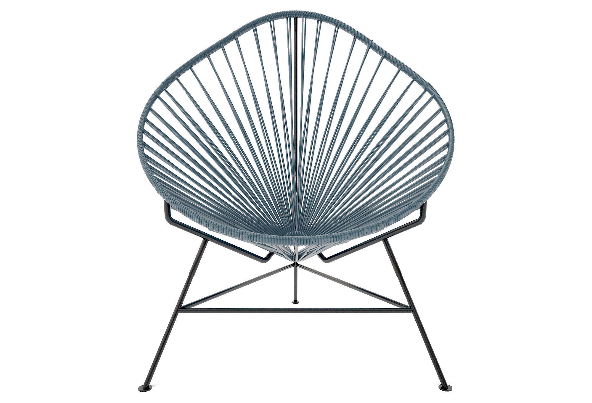 Acapulco chair black gray outdoor from one kings lane home