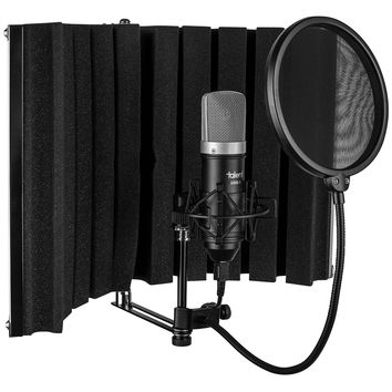 Talent Be-A-Star Mini Portable Home Recording Studio -- Vocal Booth - USB Mic - Shock Mount - Pop Filter
