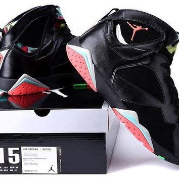 VLX85E Beauty Ticks Big Size To Special You! Nike Air Jordan 7 Retro Aj7 Black/colorful Size Us 14 15 16