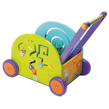 Boikido Wooden Push & Play Rabbit Wagon