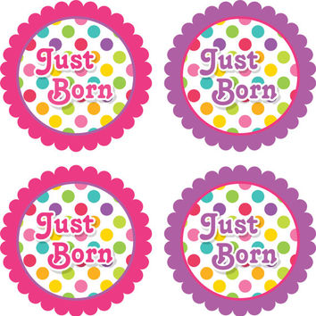 Baby Month Stickers Baby Monthly Stickers Girl Monthly Shirt Stickers Multi Polka Dot Shower Gift Photo Prop Baby Milestone