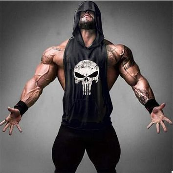 Skull Golds Bodybuilding Stringer Tank Tops men Gyms Stringer Shirt Fitness Tank Top Men Gyms Clothing Cotton Vest hoodies
