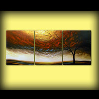 "art tree painting abstract paint impressionist original painting 66 x 28"" Mattsart"