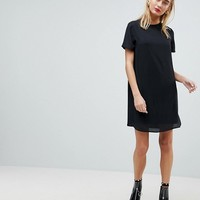 ASOS Sheer Shift Mini Dress at asos.com