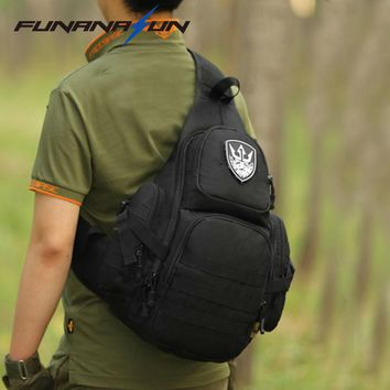 Tactical Laptop Molle Military Backpack Men Nylon Sports Bag Shoulder Sling Waterproof Men's Travel Tactical Backpack 14""