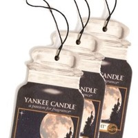Yankee Candle Paper Car Jar Hanging Air Freshener MidSummer's Night Scent - 3 Pack
