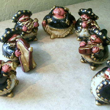 Mariachi Band Figurines, Vintage Figurines, Musicians, Spanish Singers, Mexican Band, Street Singers Figure Set, Mariachi Munchkins,