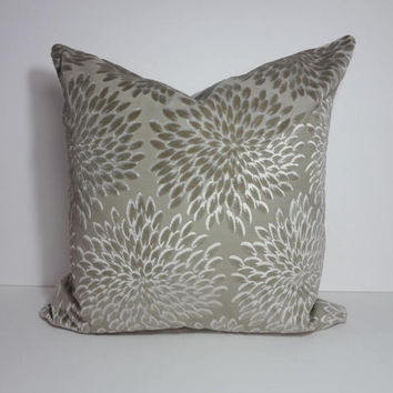 Taupe Brown Decorative Pillow Cover, Pillow Cushion, 22 x 22, 10 x 20 Lumbar