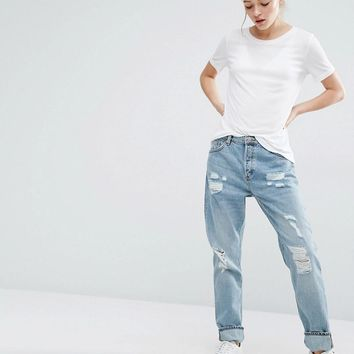 Monki | Monki Imoo Distressed Boyfriend Jeans at ASOS
