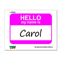 Carol Hello My Name Is Sticker
