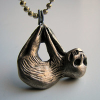 Skully sloth baby necklace