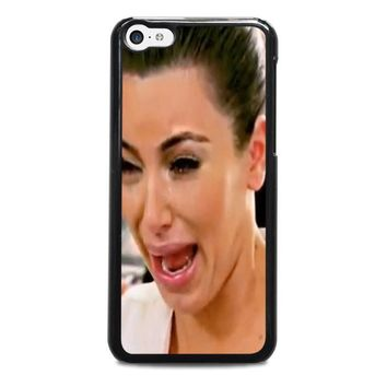 kim kardashian ugly crying face iphone 5c case cover  number 1
