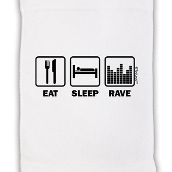 "Eat Sleep Rave Micro Terry Sport Towel 11""x18 by TooLoud"
