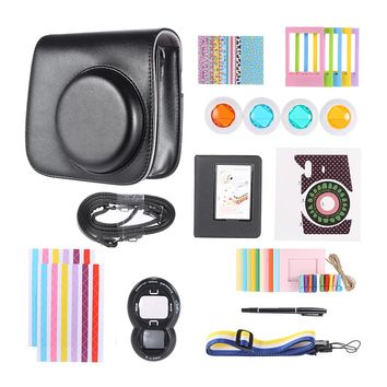 11 in 1 Fujifilm Instax Mini 8 Instant Film Camera Accessories Bundles (Case/ Sticker/ Album/ Frames/ Lens/ Filters/ Strap/ Pen)
