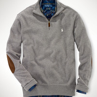 Textured Pima Cotton Half-Zip