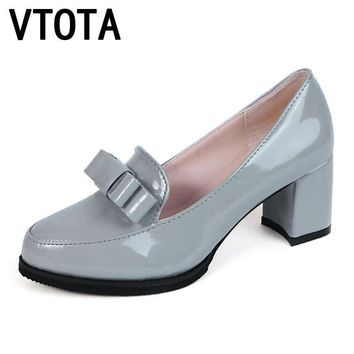 VTOTA 2017 Fashion Shoes Woman High Heels Women Shoes Platform Wedding Shoes Pumps bow