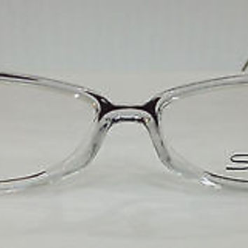 NEW AUTHENTIC SILHOUETTE SPX 1998 COL 6073 CLEAR W/BROWN PLASTIC EYEGLASSES