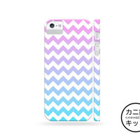 Chevron Ombre Design Case「 iPhone 6 5 5S 5C 4 4S iPod Touch Nano 7 Galaxy S5 S4 S3 Note 1 2 3 」
