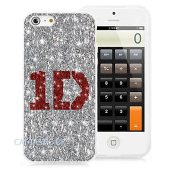 SPARKLY GLITTER 1D ONE DIRECTION IPHONE 4/4S/5 PRINTED HARD CASE COVER, TPU