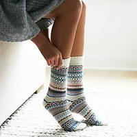 Urban Knit Womens Haydon Fairisle Sock