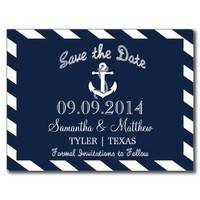 NAUTICAL ANCHOR | SAVE THE DATE POSTCARDS