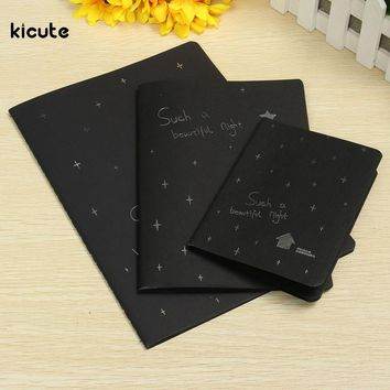 Sketchbook Diary for Drawing Painting Graffiti Soft Cover Black Paper Sketch Book Notebook Office Supply Pattern Random