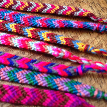 Handwoven Rainbow Threads Friendship Bracelet and Anklet Bands Design: Morocco Bliss