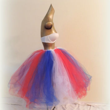 adult tutu, 4th of july tutu, red white and blue tutu,patriotic tutu, rave clothes, adult tutu dress,tea length tutu, american pride tutu