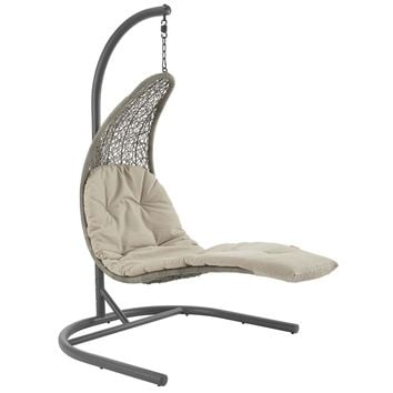 Landscape Hanging Chaise Lounge Outdoor Patio Swing Chair