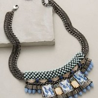 Mulay Bib Necklace by Nocturne Mint One Size Necklaces