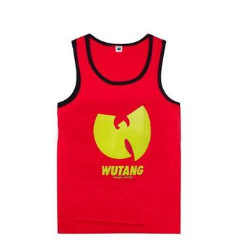 2018 new style casual hip hop wutang men's undershirt streetwear for men and women muscle tank tops 100% cotton plus size