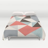 Mod Hues Tris Duvet Cover by Beth Thompson