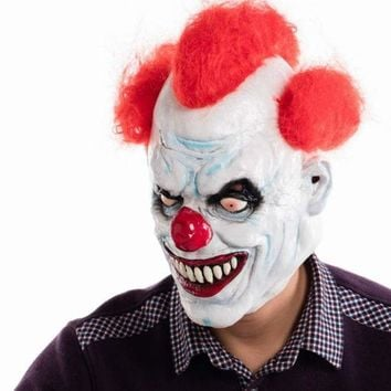 ICIK4S Ashanglife Evil Circus Clown Mask Pennywise Halloween Horror Party Fancy Dress Costume Accessory