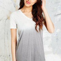 BDG V-Neck Ombre Tee in Grey - Urban Outfitters