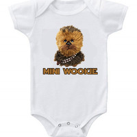 Funny Custom Baby Bodysuits Creeper Star Wars Wookie Mini Wookie