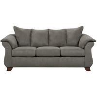 Exceptional Designs Sensations Grey Microfiber Sofa