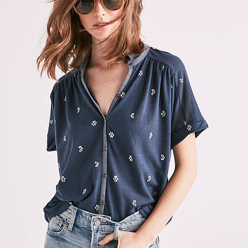 Printed Dolman Button Up | Lucky Brand