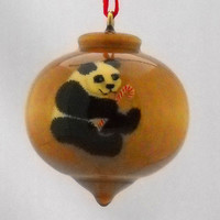 Personalized Giant Panda Christmas Ornament