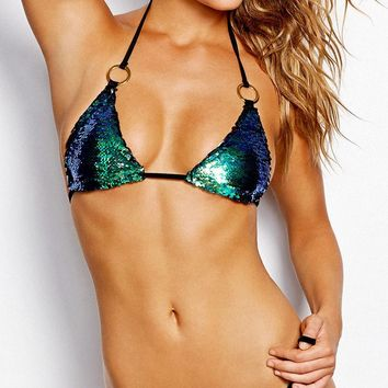 Beach Bunny 2015 Siren's Song Mermaid Sequin Bikini
