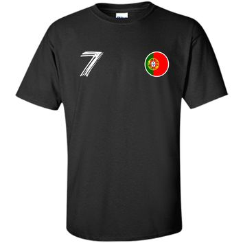 Portugal Football Fan World Russia 2018 #7 Soccer Cup Shirt