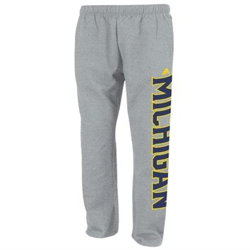 Michigan Wolverines adidas Campus Fleece Sweatpants – Gray