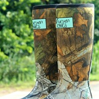 camo boots with southern label