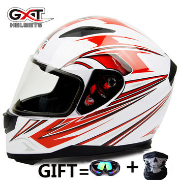 GXT398 Motorcycle Helmets Motocross Full Face helmet Double Lenses General Anti-fog Capacete Moto Protrctive Riding  Casco